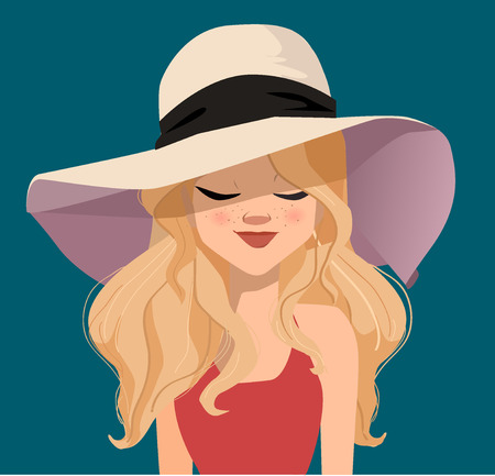 red haired woman: Pretty girl Illustration