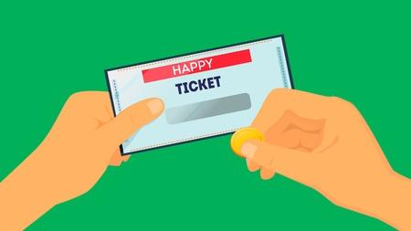 Happy ticket Vector