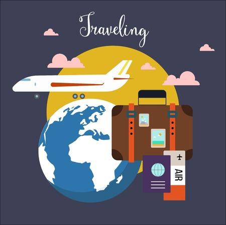 voyage: Voyage de l'aéroport Illustration