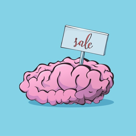 jest: Brain sale Illustration