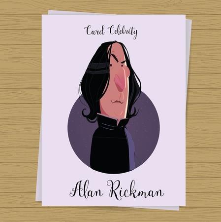 Alan Rickman postcard. Severus Snape character