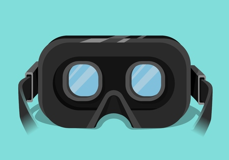 reality: Head-mounted display, virtual reality headset Illustration
