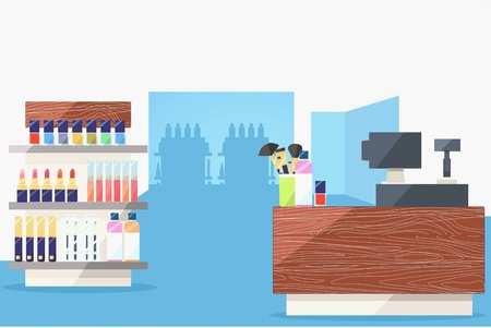 beauty store: Beauty store interior