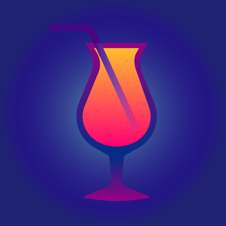 Retro pattern. Cocktail