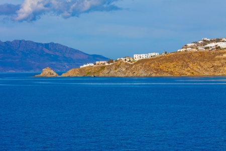 Mykonos island coast in cyclades Greece photo