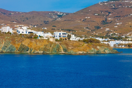 Mykonos island land in cyclades Greece Stock Photo - 17354645
