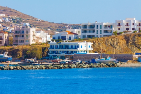 Tinos island land in cyclades Greece photo