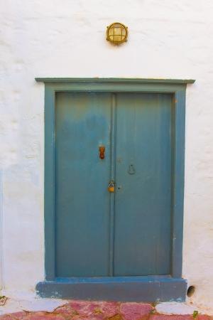 Door in Hydra Island at Saronikow Gulf in Greece Stock Photo - 17406506