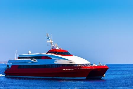 Ship to Hydra Island in Saronikos gulf in Greece closeup Stock Photo - 17407353