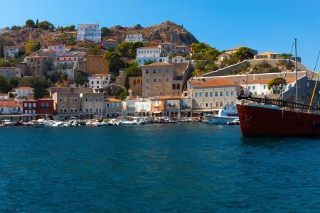 View of main Capitol of Hydra island in Greece Saronikos GulfGreece Hydra, Stock Photo - 17408272