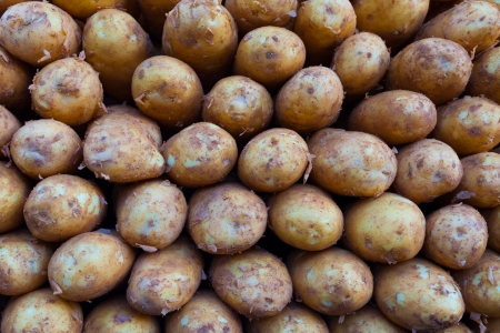 potatos: Natural Fresh Potatos Stock Photo