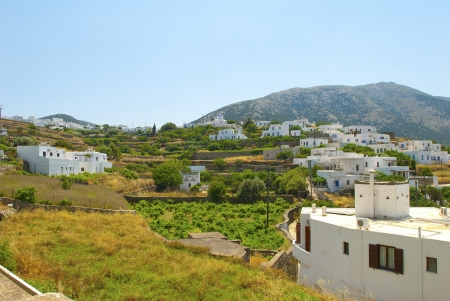 Greece Sifnos,Colorful sea view on the island photo