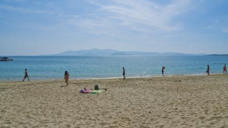 naxos: Greece,coastal beach scenery at Naxos, a island of the Cyclades in the Aegean
