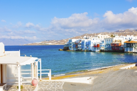 Little Venice view Mykonos Island Greece cyclades