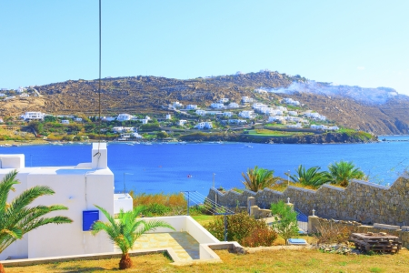 Mykonos Island Agia Anna port View Editorial