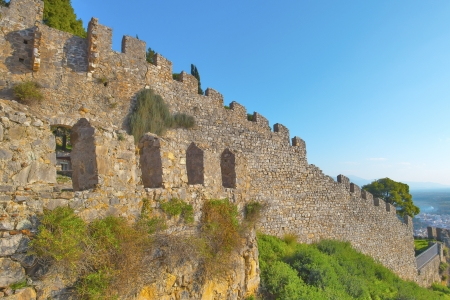 Outer Castle wall in Nafpaktos central Greece