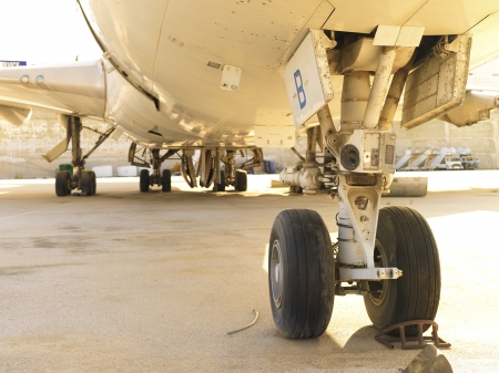 passenger airplane garage and repair facility for damages