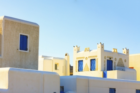 Traditional architecture in Mykonos island greece Cyclades Editorial