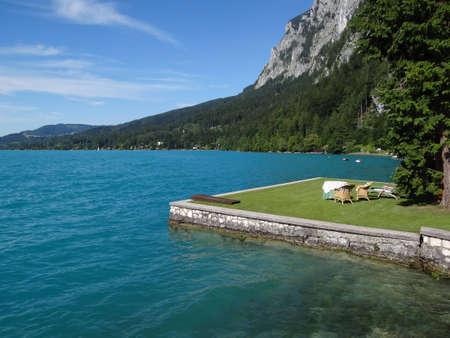 springboard: Terraza de lago Foto de archivo