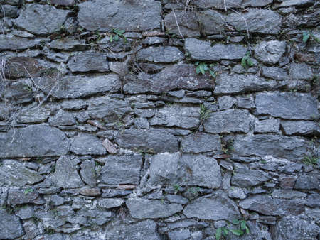 Wall of concrete at Castle Ruin Schaunburg, located in Austria photo