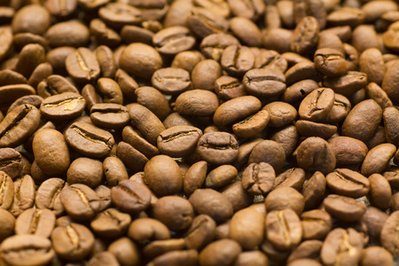 caffiene: Roasted Whole Coffee Beans Stock Photo
