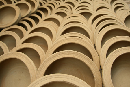 terracotta: Terracotta crock Stock Photo