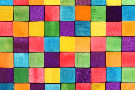 objetos cuadrados: bloques de colores  Foto de archivo