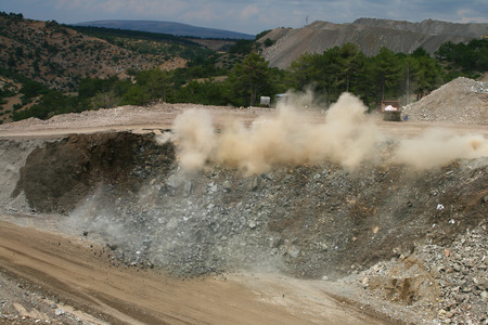 open pit: Blast in open pit