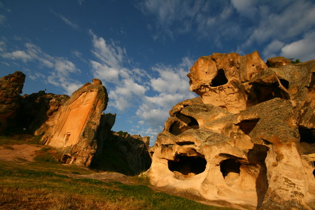 Midas Monument in Yazilikaya Stock Photo