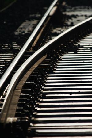 train line crossing Stock Photo - 38783496