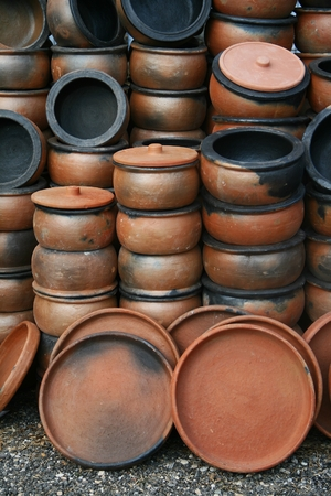 Terracotta crock Stock Photo - 38783501