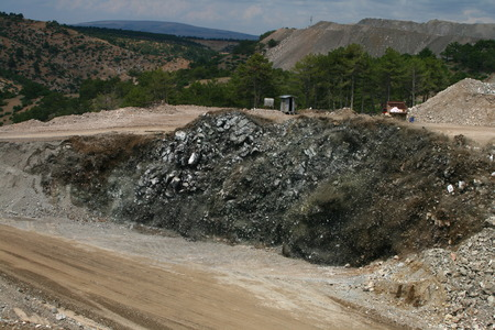 Blast in open pit Stock Photo - 38783574