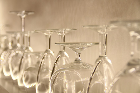 glasses ready for service Stock Photo - 38783576