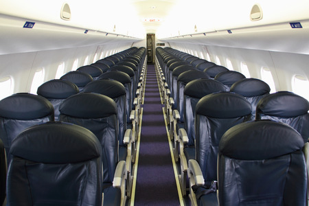 airplane cabin interior Stock Photo - 38783573