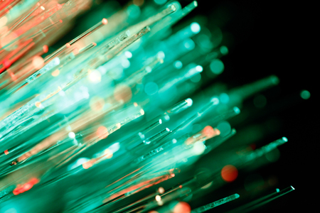 defocused abstract background of fiber optic cables Stock Photo - 65259174