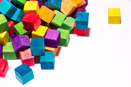 colorful blocks and text space Stock Photo