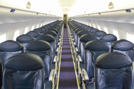 Seats in a Empty Jet Airplane