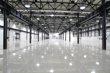 New modern storehouse, background for industry