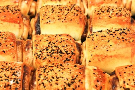 typical Turkish owen product pastry pogaca Stock Photo