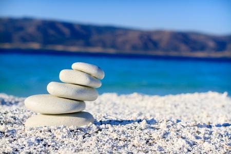 balanced sand stones Stock Photo