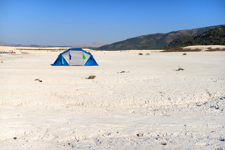 A single trip to the desert with a tent.
