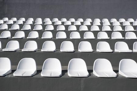 empty sits at stadium Stock Photo