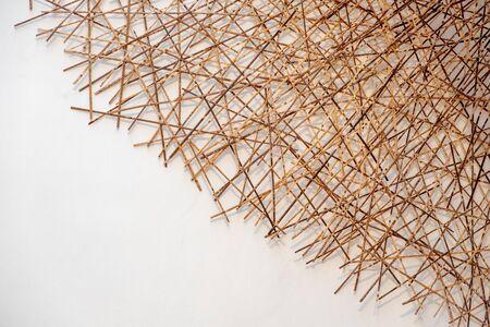 Bamboo stick on white Stock Photo