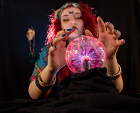 Fortune teller lady  is telling about your future Stockfoto