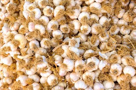 garlic at baazar for sale Stock Photo