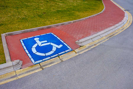 wheelchair way entarence at sidewalk