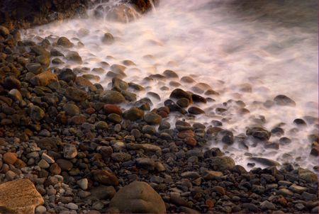 Rocks in waves