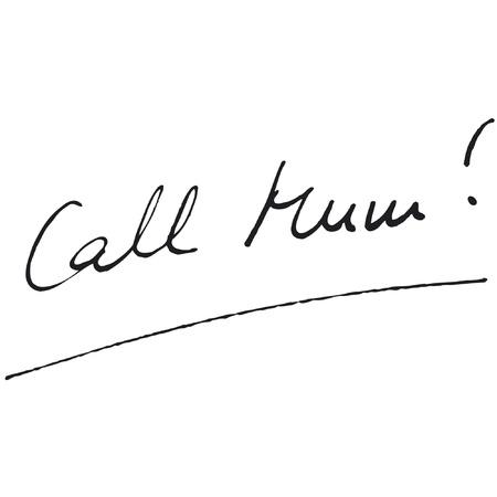 Call Mum! Fountain Pen Vector Ilustracja