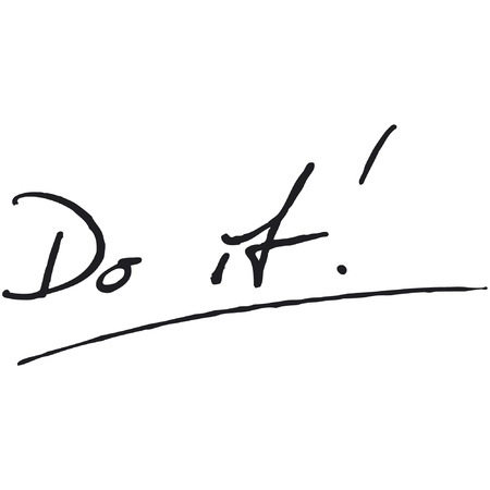 Do it! Fountain Pen Vector Stock Vector - 9416579