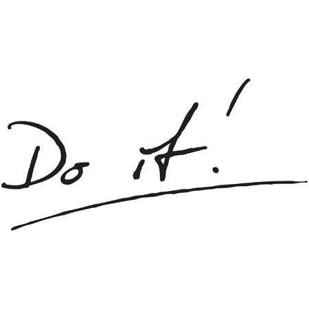 Do it! Fountain Pen Vector
